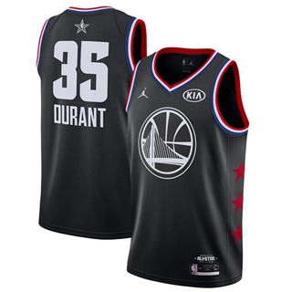 Men's Warriors #35 Kevin Durant Black Basketball Jordan Swingman 2019 All-Star Game Jersey