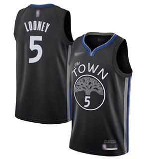 Men's Warriors #5 Kevon Looney Black Basketball Swingman City Edition 2019-2020 Jersey