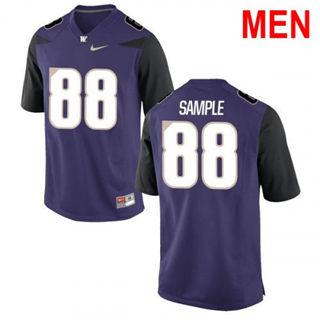 Men's Washington Huskies #88 Drew Sample Purple Football Jersey