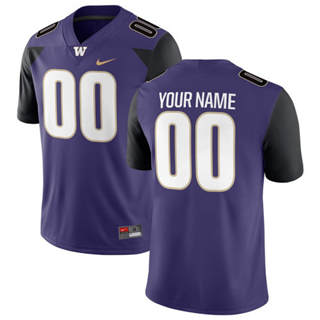 Men's Washington Huskies Custom Name Number Jersey Purple NCAA 19-20
