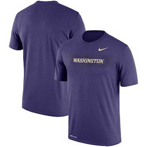 Men's Washington Huskies  Sideline Seismic Legend Performance T-Shirt – Purple