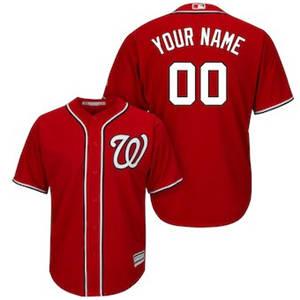 Men's Washington Nationals Customized Red Cool Base Custom Baseball Baseball Jersey
