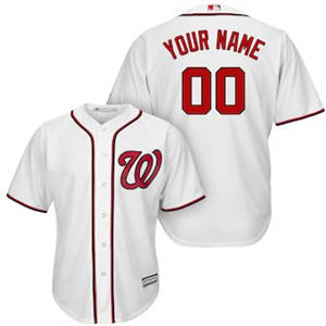 Men's Washington Nationals Customized White Cool Base Custom Baseball Baseball Jersey