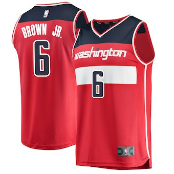 Men's Washington Wizards Troy Brown Red 2018 Basketball Draft Icon Edition Jersey