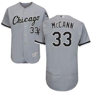 Men's White Sox #33 James McCann Grey Flexbase  Collection Stitched Baseball Jersey