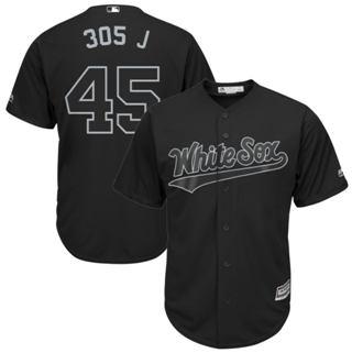 Men's White Sox #45 Michael Jordan Black 305 J Players Weekend Cool Base Stitched Baseball Jersey