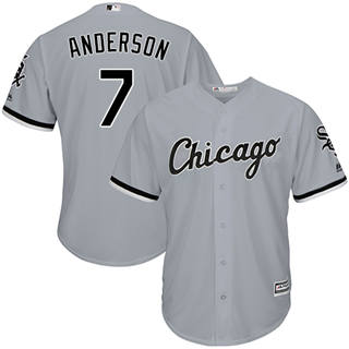 Men's White Sox #7 Tim Anderson Grey New Cool Base Stitched Baseball Jersey