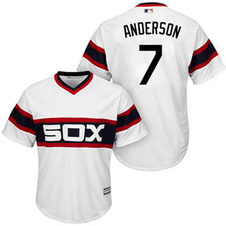 Men's White Sox #7 Tim Anderson White New Cool Base Alternate Home Stitched Baseball Jersey