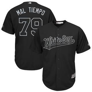 Men's White Sox #79 Jose Abreu Black Mal Tiempo Players Weekend Cool Base Stitched Baseball Jersey