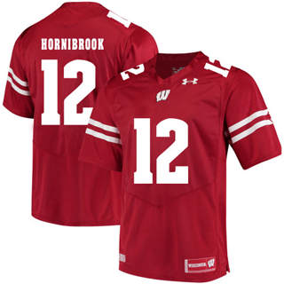 Men's Wisconsin Badgers #12 Alex Hornibrook NCAA Football Jersey Red