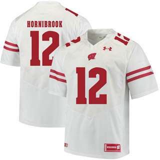 Men's Wisconsin Badgers #12 Alex Hornibrook NCAA Football Jersey White
