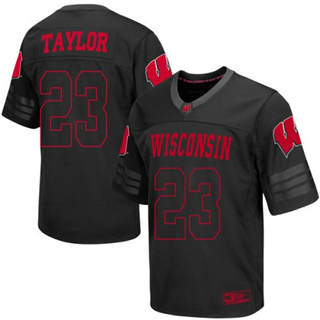 Men's Wisconsin Badgers #23 Jonathan Taylor Jersey Black NCAA 19-20