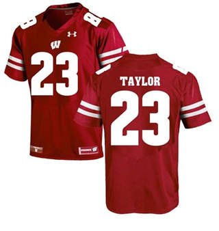 Men's Wisconsin Badgers #23 Jonathan Taylor Jersey Red Football