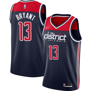 Men's Wizards #13 Thomas Bryant Navy Blue Basketball Swingman Statement Edition 2019-2020 Jersey