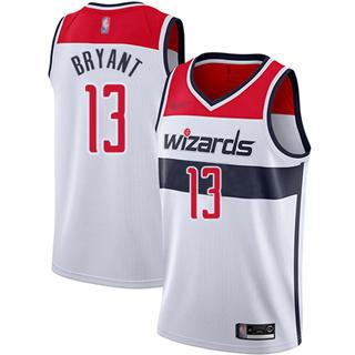 Men's Wizards #13 Thomas Bryant White Basketball Swingman Association Edition Jersey