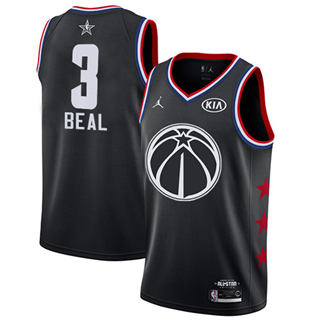 Men's Wizards #3 Bradley Beal Black Basketball Jordan Swingman 2019 All-Star Game Jersey