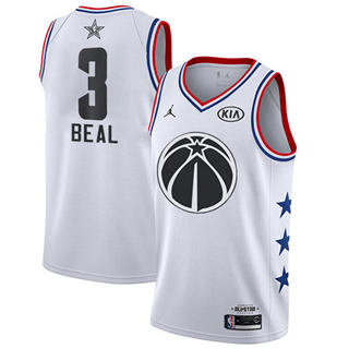 Men's Wizards #3 Bradley Beal White Basketball Jordan Swingman 2019 All-Star Game Jersey