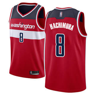 Men's Wizards #8 Rui Hachimura Red Basketball Swingman Icon Edition Jersey