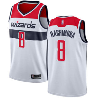 Men's Wizards #8 Rui Hachimura White Basketball Swingman Association Edition Jersey