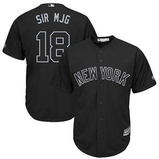Men's Yankees #18 Didi Gregorius Black Sir MJG Players Weekend Cool Base Stitched Baseball Jersey
