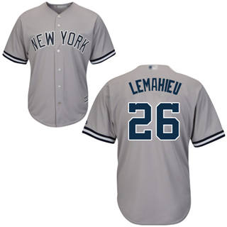 Men's Yankees #26 DJ LeMahieu Grey New Cool Base Stitched Baseball Jersey