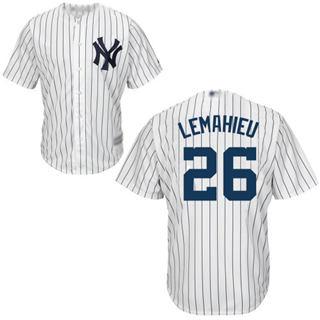 Men's Yankees #26 DJ LeMahieu White Strip New Cool Base Stitched Baseball Jersey