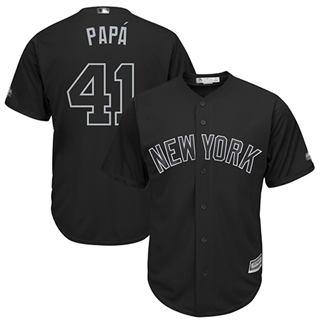 Men's Yankees #41 Miguel Andujar Black PAPA Players Weekend Cool Base Stitched Baseball Jersey