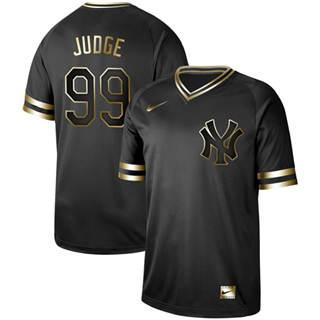 Men's Yankees #99 Aaron Judge Black Gold  Stitched Baseball Jersey