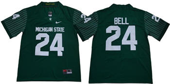 Michigan State Spartans #24 Le'Veon Bell Green Limited Stitched NCAA Jersey