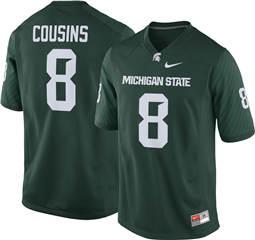 Michigan State Spartans #8 Kirk Cousins Green College Football Jersey