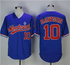 Mitchell And Ness BP Montreal Expos #10 Andre Dawson Blue Throwback Stitched Baseball Jersey