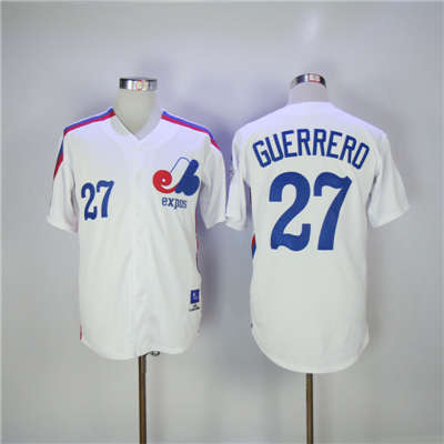 Mitchell And Ness Expos #27 Vladimir Guerrero White Throwback Stitched Baseball Jersey