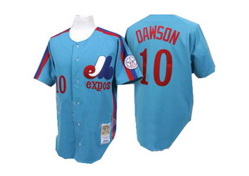 Mitchell and Ness Montreal Expos 10 Andre Dawson Blue Jersey