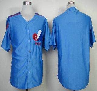 Montreal Expos Jersey Blank Blue Jerseys