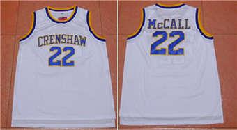 Movie Edition Jersey #22 Crenshaw White jerseys