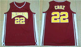 Movie Edition Jersey #22 Richmond CRUZ red jerseys