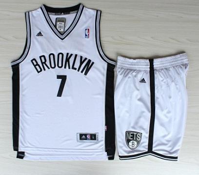 Basketball Brooklyn Nets Jersey 7 Joe Johnson White Revolution 30 Swingman Jerseys Shorts Basketball Suits