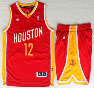 Basketball Houston Rockets Jersey #12 Dwight Howard Red Throwback Revolution 30 Swingman Basketball Jerseys Shorts Suits