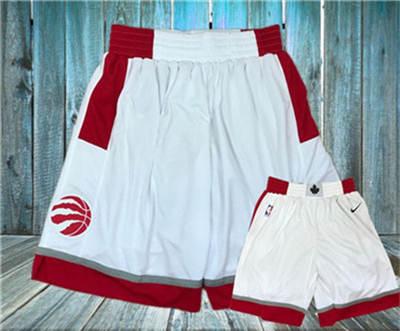 Basketball Raptors White  Swingman Shorts