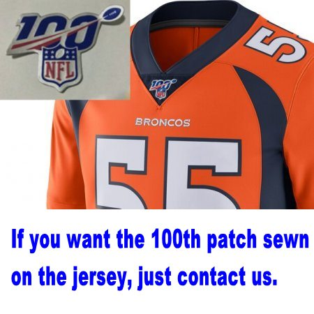 Football 100th Season Patch Stitched on Neck