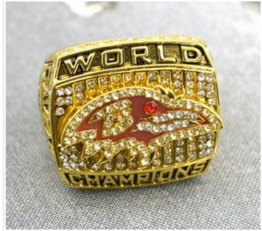 Football Baltimore Ravens World Champions Pendant Ring