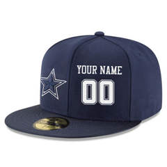 Football Dallas Cowboys Customized Stitched Snapback Adjustable Player Hat - Navy&White