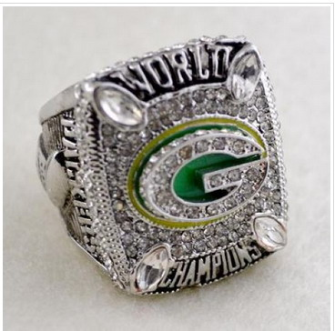 Football Green Bay Packers World Champions Silver Ring