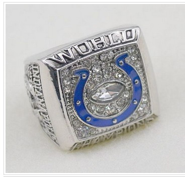 Football Indianapolis Colts World Champions Silver Ring