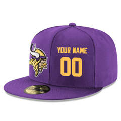 Football Minnesota Vikings Customized Stitched Snapback Adjustable Player-1