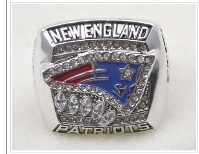 Football New England Patriots World Champions Silver Ring