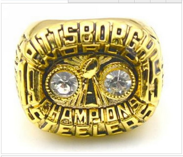 Football Pittsburgh Steelers World Champions Gold Ring