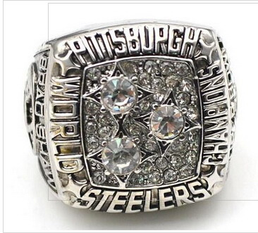Football Pittsburgh Steelers World Champions Silver Ring