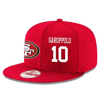 Football San Francisco 49ers #10 Jimmy Garoppolo Snapback Adjustable Stitched Player Hat - Red