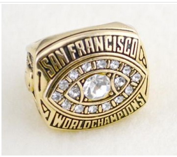 Football San Francisco 49ers World Champions Silver Ring